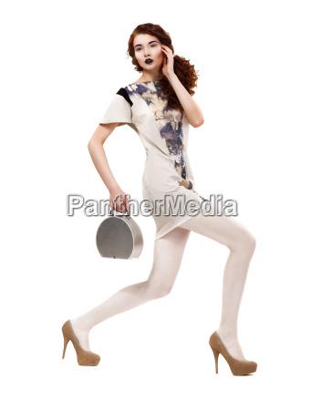 profil af urban glamorous fashion model