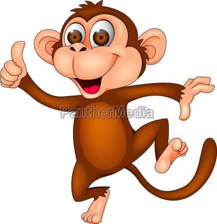 sjov dansende abe