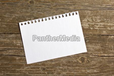note memo slip wood brown brownish