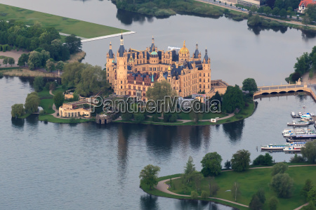 schwerin slot som aerial view from