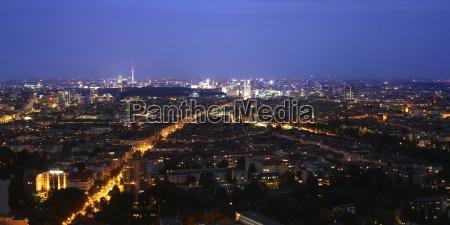 miljo berlin hovedstad skyline natur