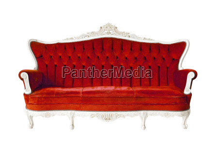 luksus rod sofa isoleret