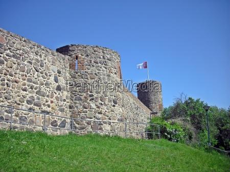 historisk by brandenburg mur tyskland den
