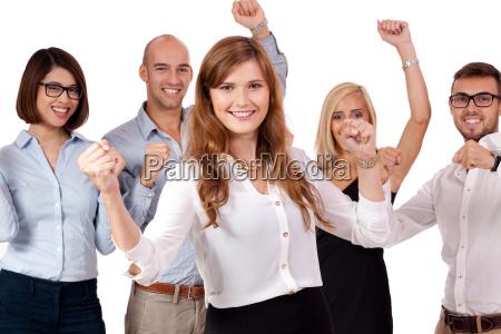 unge gruppe hold med folk forskellige