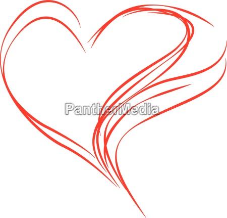 heart abstrakt rod