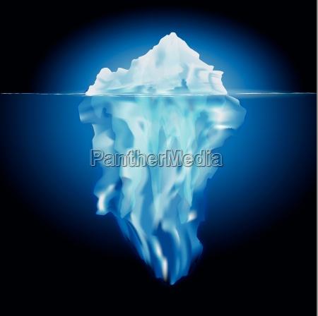 kold koldt is undersoisk skjulte isbjerg