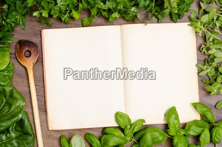 grønne, urter, som, en, ramme, omkring - 10120193