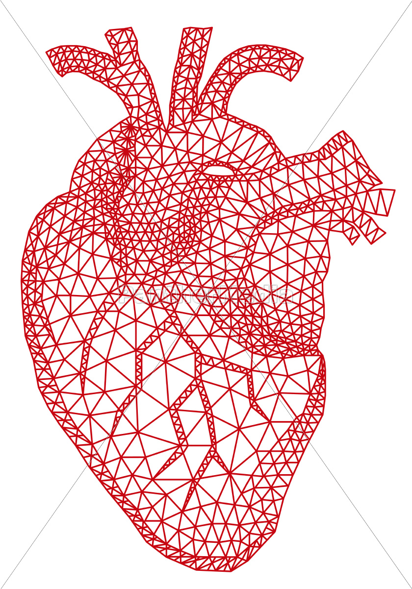 heart, with, geometric, pattern - 10188203
