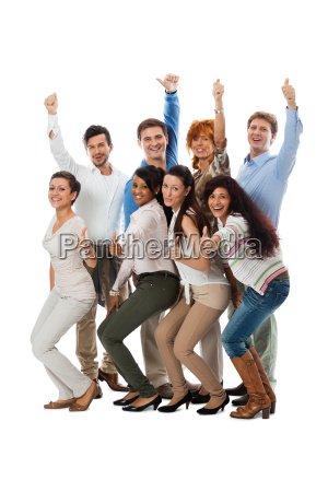 young group team with people different