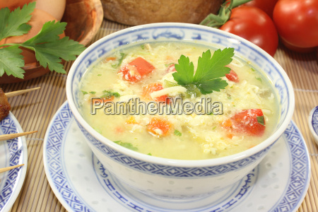 asian chicken soup with egg