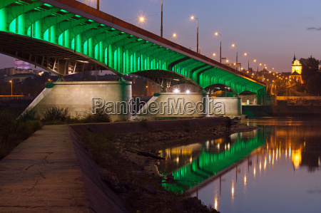 slasko-dabrowski-broen, i, skumringen, i, warszawa - 10263083