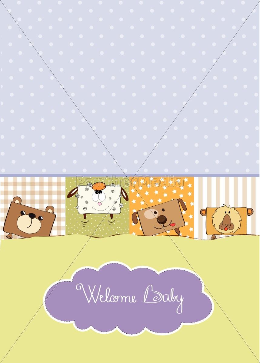 baby, shower, kort, med, sjove, kube - 10309047