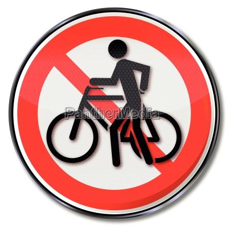 push, verbotsschild, til, cykling, og, cykel - 10330697