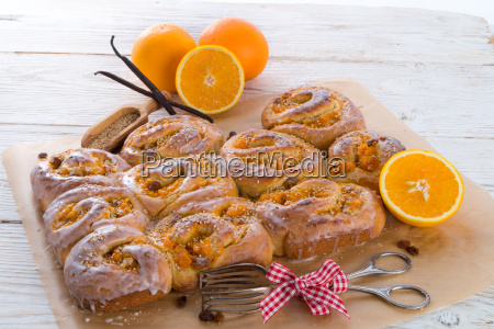 frisk, vanilje, appelsin, snegle - 10395845