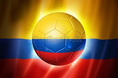 fodbold bold med colombia flag