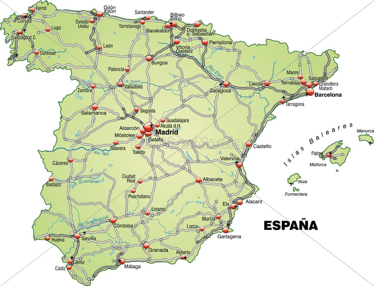 kort over nordspanien