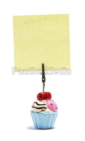 ice cream sticky noteholder med firkantet
