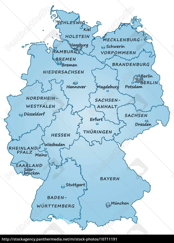 Kort Over Tyskland Som Oversigtskort I Blat Stockphoto