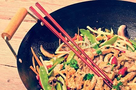 china wok vintage stil