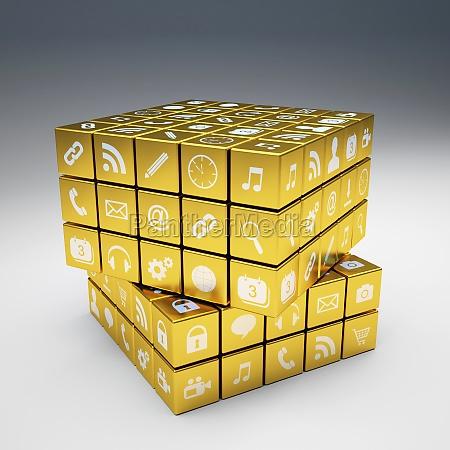 gyldne ikoner