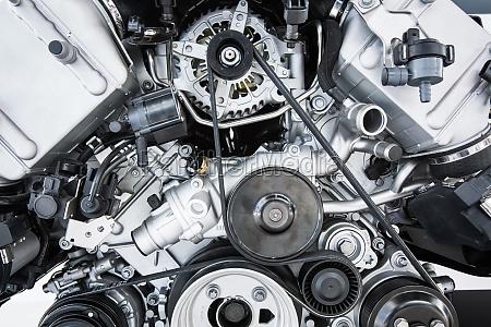 bilmotor moderne kraftig bilmotor motorenhed