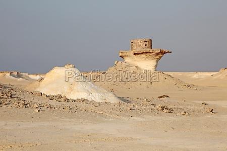 fort in the desert of qatar