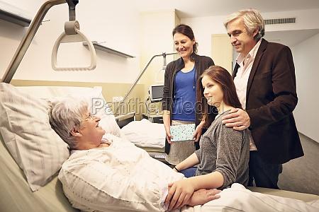 hospital besoger familie