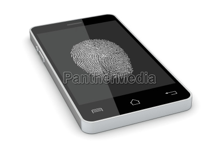 fingeraftrykslaeser pa en smartphone