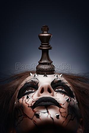 besejret af skak konge