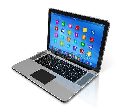 laptop computer apps ikoner interface