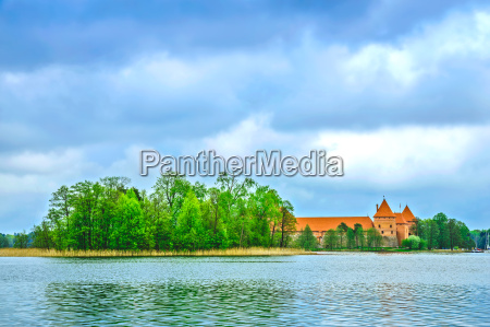 middelalderlige gamle slot i trakai litauen