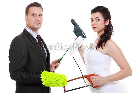 unge par bruden brudgom huslige pligter
