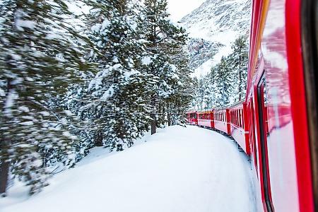 train i sneen