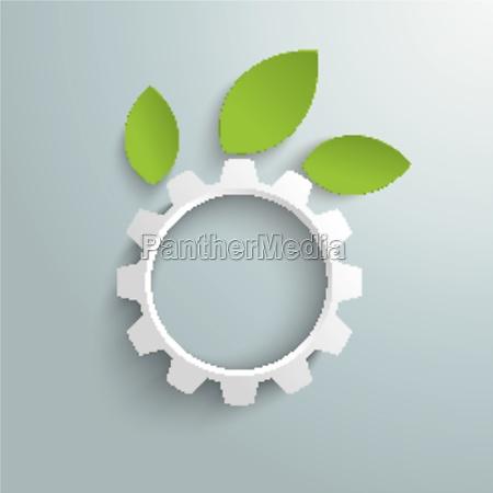 green technology gear leaves piad