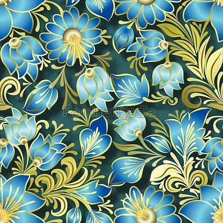 abstrakt vintage blomstret ornament pa gron