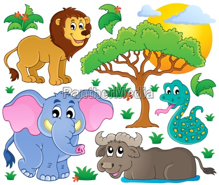 cute african animals collection 2