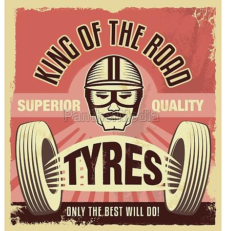 vintage tegn retro garage plakat