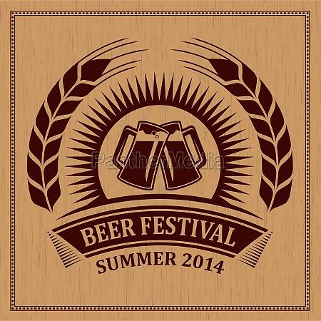 bierfest symbol symbol vektor design