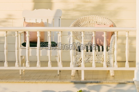 wick stol pa verandaen grand isle