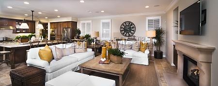 stue i traditionelt amerikansk hjem tustin