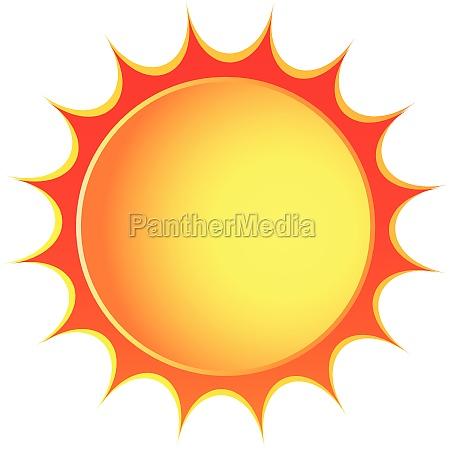 vector sol ikon