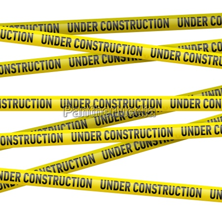 gul under konstruktion fare tape