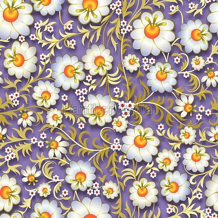 abstrakt vintage somlost blomstret ornament med
