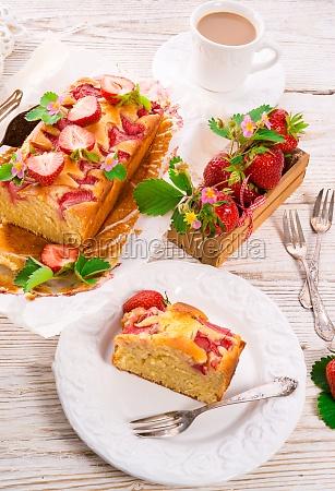 jordbaer kage