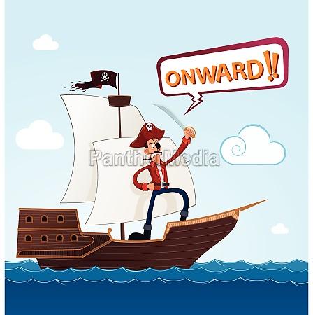 pirat pa et sejlskib