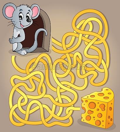 maze 1 med mus og ost