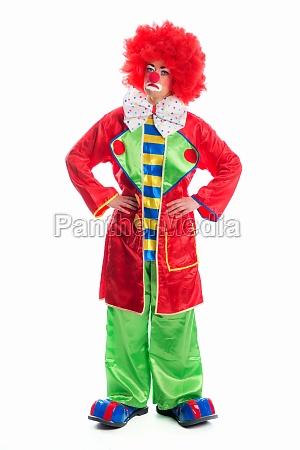 bedrovet forklaedt klovn grimasse karneval underlig