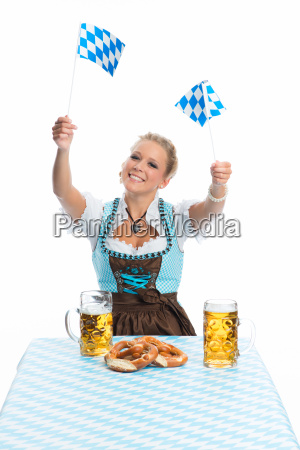 bayrin with beer and pretzels