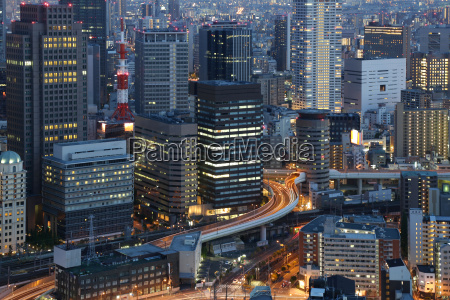 big city lights osaka japan som