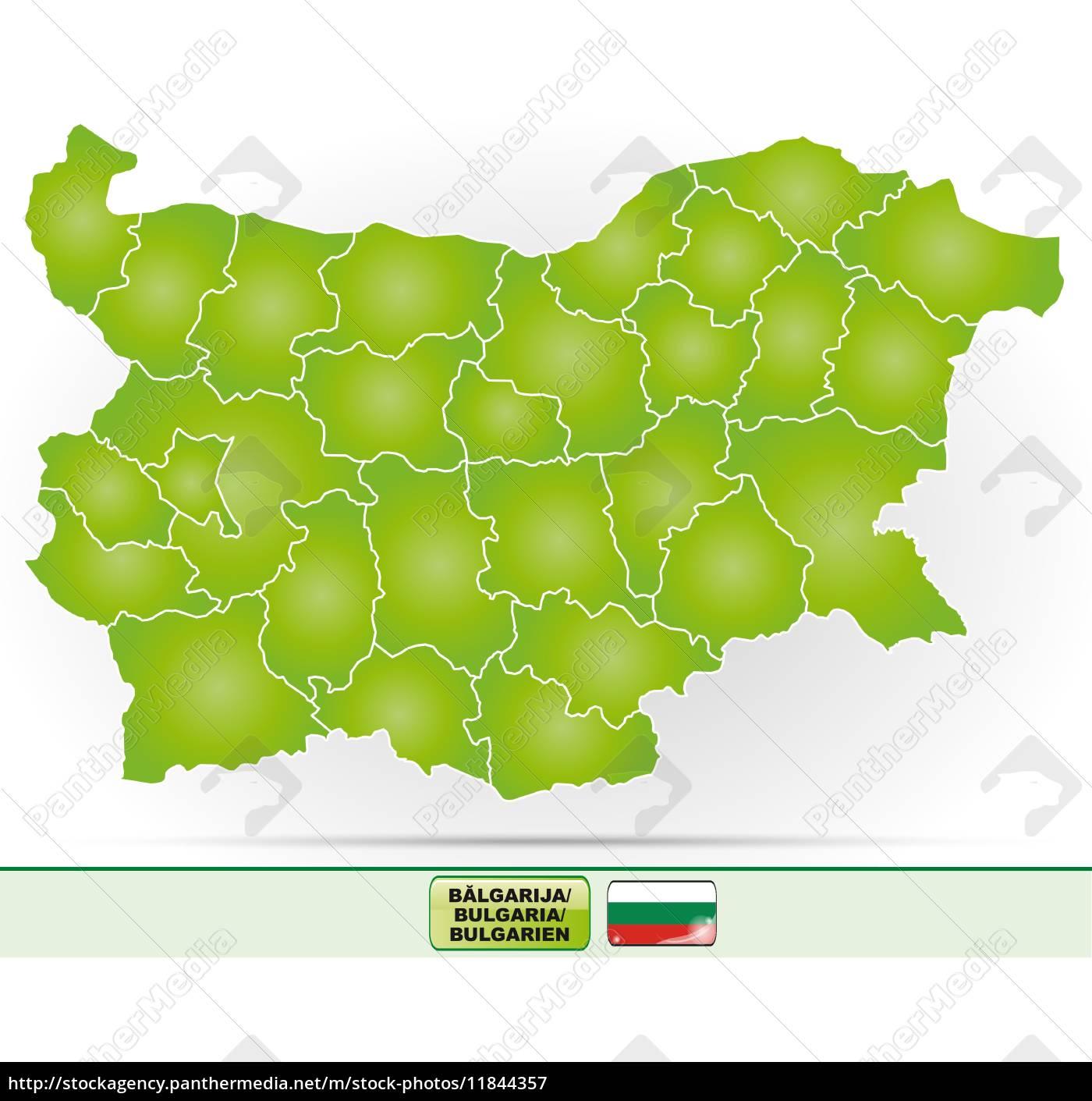 Kort Over Bulgarien Stockphoto 11844357 Panthermedia